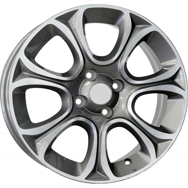 optional wheels PSME - DEDICATED FIAT - (Omol ECE) GUN METAL POLISHED