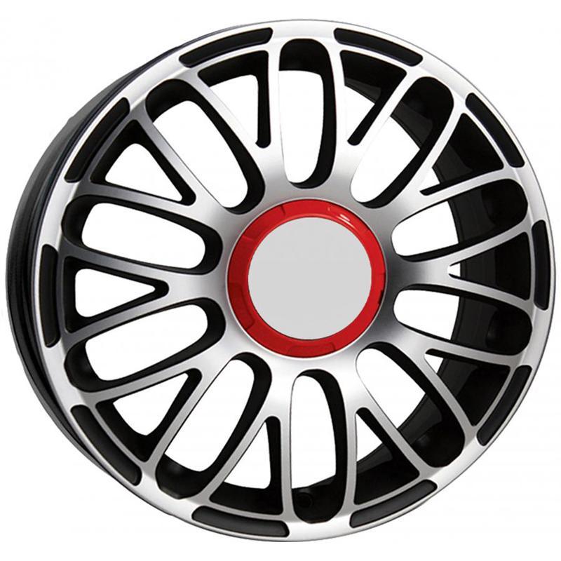 optional wheels PSSO - DEDICATED FIAT - (Omol ECE) GLOSSY BLACK POLISHED