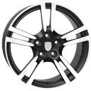 Optional Wheels W1054 Saturn Dull Black Polished