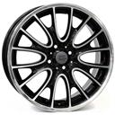 Optional Wheels W1653 Rivers Glossy Black Polished