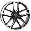 Optional Wheels W1654 Amstel Dull Black Polished