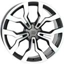 Optional Wheels W565 Medea Dull Black Polished