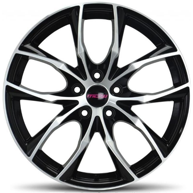 mc wheels FIVE BLACK POLISHED