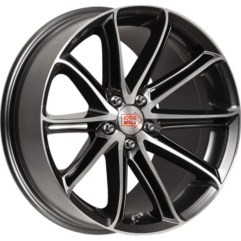 mille miglia MM1007 DARK ANTHRACITE GLOSS POLISHED